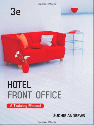 Hotel Front Office: A Training Manual