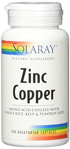 Solaray Zinc + Copper Amino Acid Chelate VCapsules, 100 Count