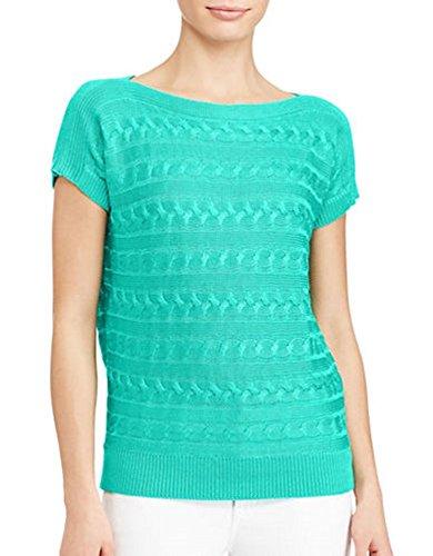 RALPH LAUREN Lauren Petite Cable-Knit Sweater (Tropic Turquoise, PS/Petite ()