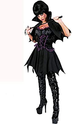 Disfraz de vampiresa negro mujer Halloween M: Amazon.es: Juguetes ...