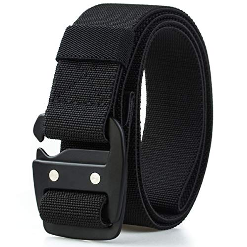 WYuZe Mens Tactical Belt Military Elastic Stretch Duty Riggers Belt Metal Buckle