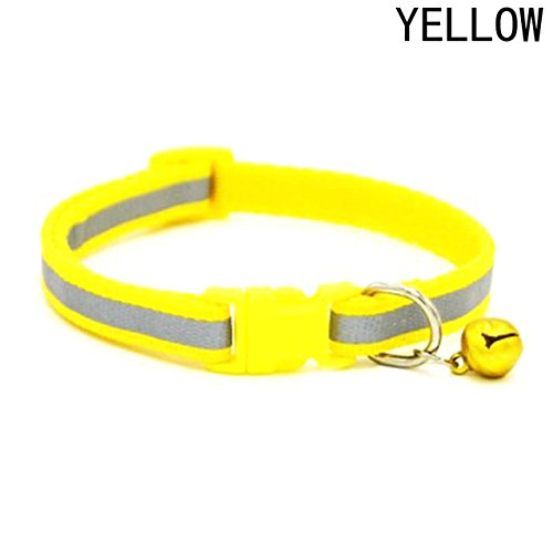 1 Pack Colorful Glossy Reflective Safety Buckle Dog Collar Dogs Puppy Cats Kitten Pet Necklace With Bell Soft Elastic Bow Tag Paradisiac Popular ide Breakaway Training Camo Cat Collars, Type-05 -