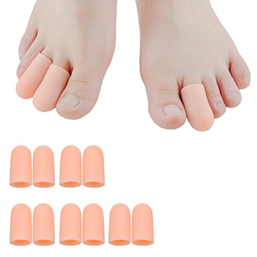 Sumifun Toe Caps - Toe Protectors, Silicone Toe Sleeves Bunion Relief Toe Pads Foot Corn Remover & Blisters Callus Bunion Relief (Nude) by Sumifun