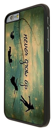 579 - Out Of This World Space Galaxy never grow up Cartoon Funky Design iphone 6 6S 4.7'' Coque Fashion Trend Case Coque Protection Cover plastique et métal - Noir