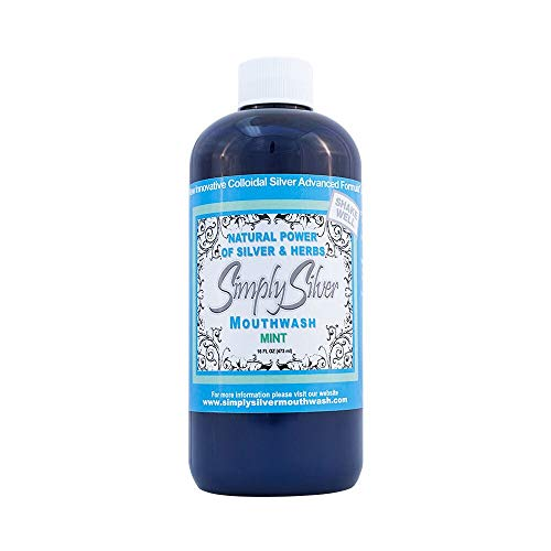 Simply Silver 1 Mouthwash, Fresh Natural Mint,16 Ounce