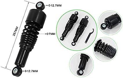 Stossdämpfer 10 5 Für Yamaha Xv 125 Virago Tieferlegung Schwarz Auto