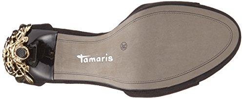 Tamaris Signore 28021 Sandali Con Il Cinturino Nero (nero / Oro)