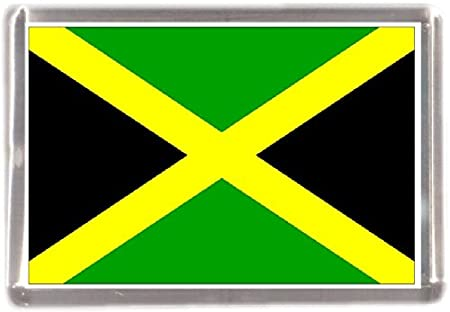 YNuth Jamaicas Map Fridge Magnet for Home Decor 3.8x9.2cm