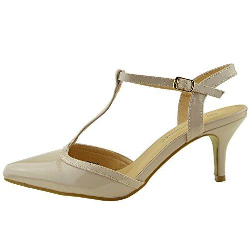 Damen Stiletto High Heels Hochzeit , Party Riemchen -, Büro-Schuhe Nackt