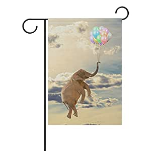 mydaily Flying elefante globo cielo decorativos doble cara bandera de Jardín 12x 18y 28x 40inch, poliéster, multicolor, 28 x 40 inch