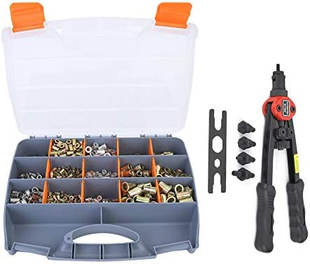Rivet Nut Set Rivet Nuts Level Hand Riveting Pliers Tool M3 M5 M6 M8 M10 900pcs for Industry Production