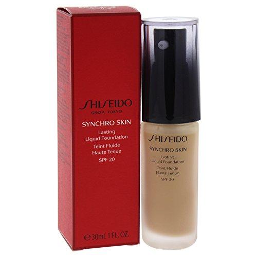 Shiseido Synchro Skin Lasting SPF 20 Liquid Foundation, 4 Golden, 1 Ounce