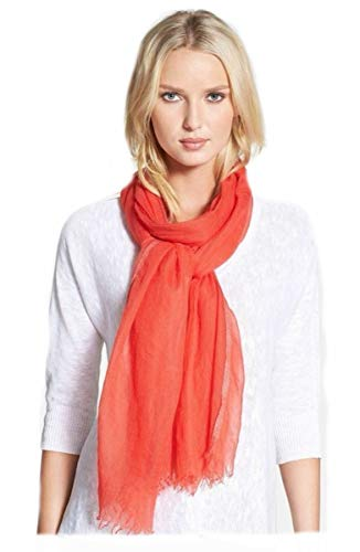 Eileen Fisher Ethereal Cashmere w/Sparkle Edge RED LORY Wrap Scarf MSRP $218.00 (Eileen Accessories Fisher)