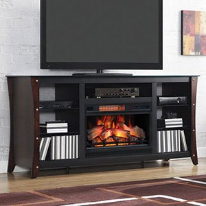 Marlin Electric Fireplace Media Cabinet in Cherry - 26MM9689-NC72 (Media Cabinet With Fireplace)