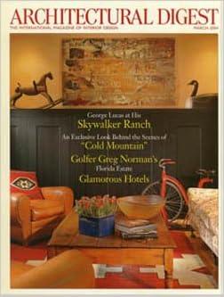 architectural digest magazine march 2005
