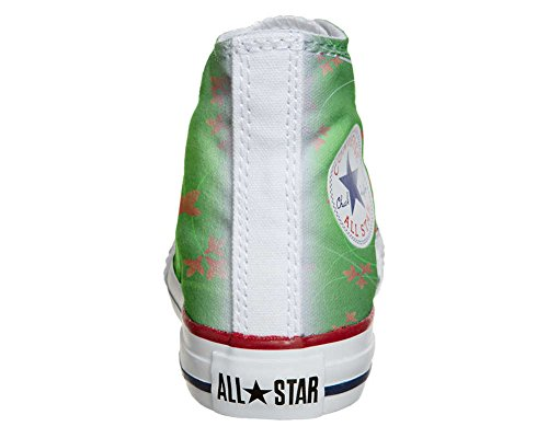 Converse All Star chaussures coutume mixte adulte (produit artisanal) Green Fantasy