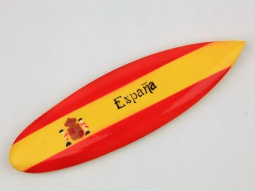 Juego de 6 Magnet madera imán tabla de surf España Espana España ...