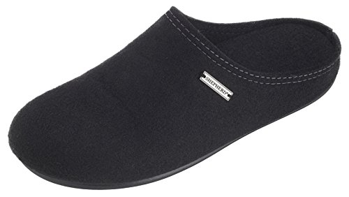 Open Back Ladies Black Slippers Shepherd Genuine Lambswool zSqxwOa