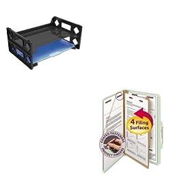 KITSMD18776UNV08100 - Value Kit - Smead Pressboard Classification Folders (SMD18776) and Universal Side Load Letter Desk Tray (UNV08100)