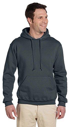 Jerzees mens 9.5 oz. 50/50 Super Sweats NuBlend Fleece Pullover Hood(4997)-BLACK-XL