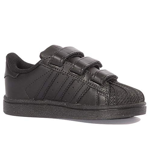 Adidas nero Infantile Foundation Basso Nero A Collo Superstar Senakers rgwqpR6r