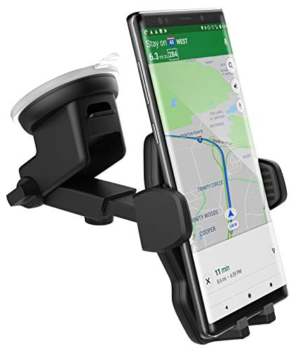 Encased XL Car Mount Galaxy Note 9 Phone Holder - Case Friendly Adjustable Dock, 2018 Samsung Note 9 Compatible (Includes 3 attachments: Vent/Windshield / Dashboard Disk)