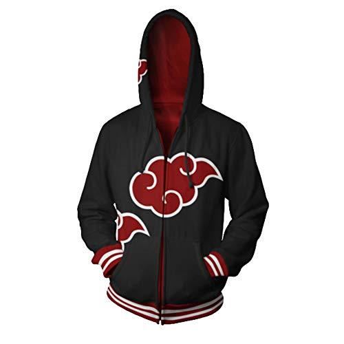 - UU-Style Men's Naruto Kakashi Long Sleeve Bomber Jacket Cosplay Costume Jiraiya Hoodie Sweatshirt (4X-Large, Akatsuki)