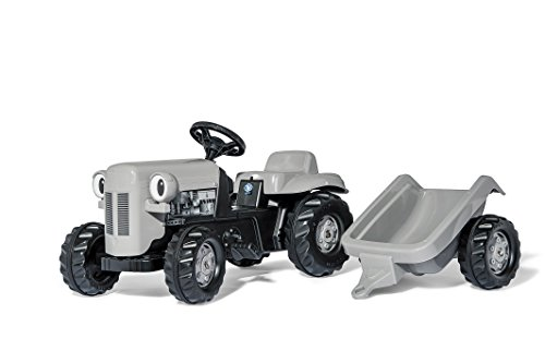 Kettler Little Grey Fergie Pedal Tractor with Detachable Trailer by Kettler