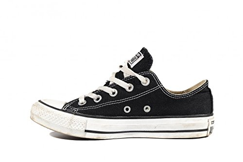 (Converse Unisex Chuck Taylor All Star Low Top Black Sneakers - 5 D(M) US)