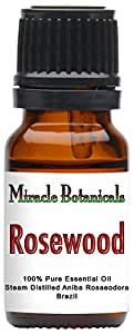 Miracle Botanicals Rosewood Essential Oil - 100% Pure Aniba Rosaeodora - 10ml or 30ml Sizes - Therapeutic Grade - 10ml