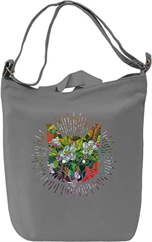 Hipster Fox Borsa Giornaliera Canvas Canvas Day Bag| 100% Premium Cotton Canvas| DTG Printing|