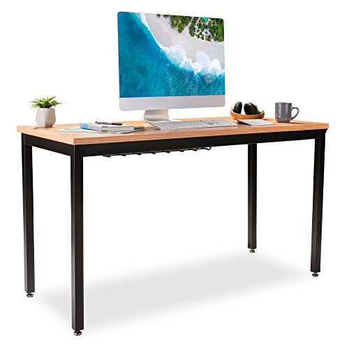 "Computer Desk for Home Office - 55"" Length Table w/Cable O"
