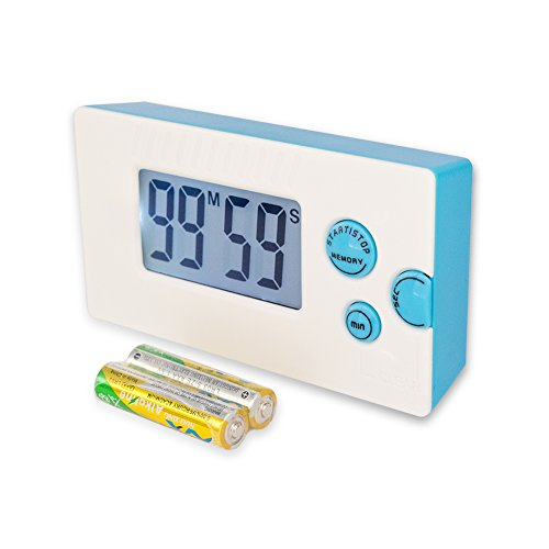 Loud Alarm Timer - Extra Loud Timer, Music Timer, Kitchen Timer with Backlight, Digital Timer with Memory, Speaker Countdown Timer for kids, teachers, hearing impaired, elderly people.