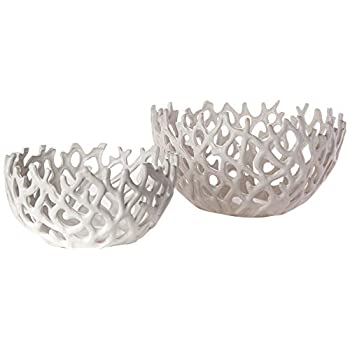 Image of TIC Collection Coral Bowl Set, White Bowl Sets