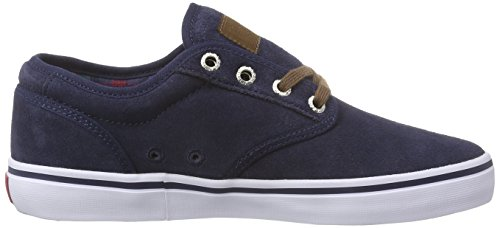 Globe Motley Navy Basses Bleu plaid 13180 Adulte Sneakers Mixte Blau RRrdwqp