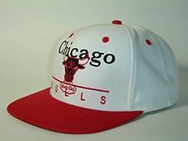 ccf09f4076c35b NBA Chicago Bulls Block Script White 2 Tone Retro Snapback Adidas. Loading  Images.