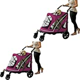 Pet Gear Expedition No-Zip Stroller for Dogs - Cats & Puppy - Boysenberry (2 Pack)