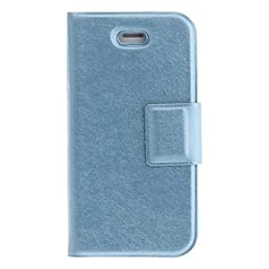 Silk Print PU Full Body Case with Card Slot and Stand for iPhone 4/4S (Assorted Colors) --- COLOR:Gold