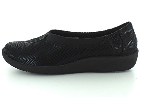 Clarks Womens Cloudsteppers Sillian Jetay Flat Black