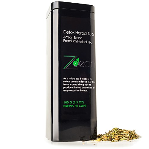 Zoean Herbal Mint Detox Tea, Artisan Blend Premium Quality, 100% REAL NATURAL TEA , no added preservatives, Whole-Body organic cleanse, 100 Grams/3.5oz