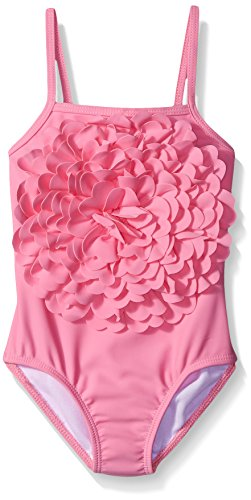 Kate Mack Little Girls' Toddler Be Mine Rose One Piece Swimsuit, Pink, 3T