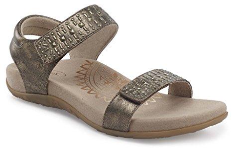 Aetrex Womens Maria Studded Qtr Strp Dress Sandal Bronze vLnm8aqf