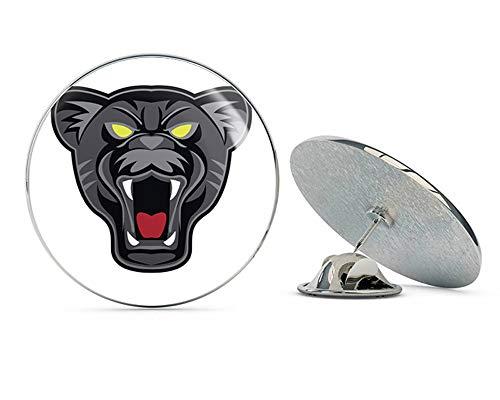 BRK Studio Simple Black Panther Mascot Head Cartoon Round Metal 0.75