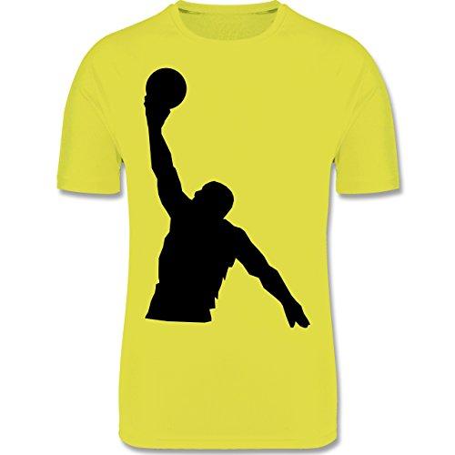 Sport Kind - Basketball - 140 (9-11 Jahre) - Gelb - F350K - atmungsaktives Laufshirt / Funktionsshirt für Mädchen und Jungen