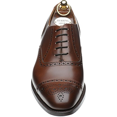 Herring  Herring Lambeth, Chaussures de ville à lacets pour homme Marron Mahogany Calf