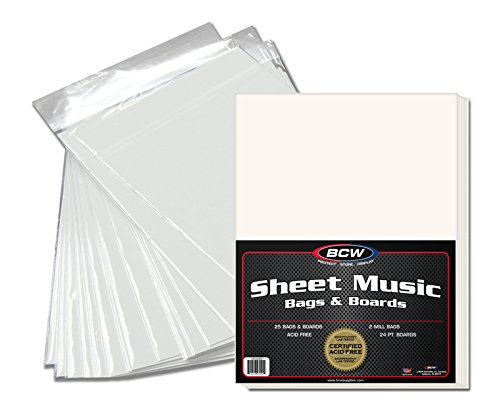 BCW 1-SM-BAGBRD Bcw Premade Sheet Music Bag and Board