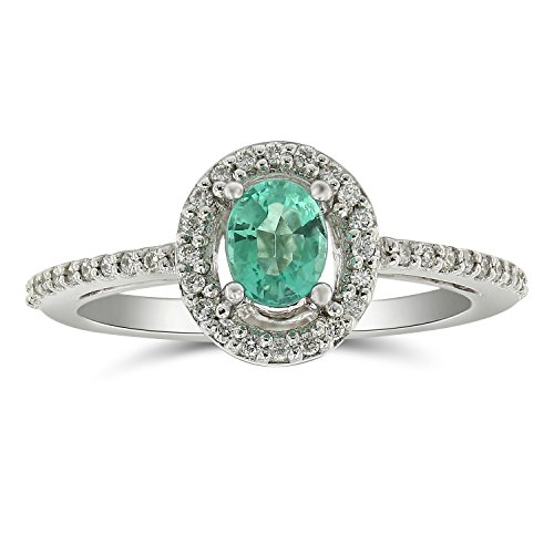 Almost all Sold Out !!,Jewel Ivy 14K White Gold Ring with Emerald and Diamond, Royal, Luxury Look, Best Gift For Friend, Girlfriend, Wife, Size- US-5.5 by Ferhe New York