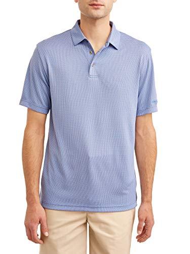 Men's Short Sleeve Performance Polo Shirt (Medium 38/40, Blue Heron - Ls Shirt Golf