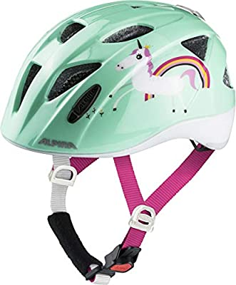 Alpina XIMO Flash Casco de Bicicleta, Girls, Mint Unicorn, 45-49 ...