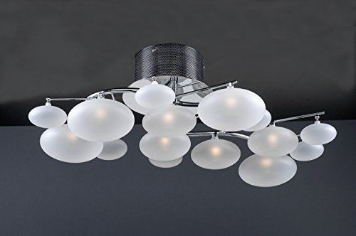 PLC Lighting 96942 PC Comolus Collection 8 Light Ceiling Light, Polished Chrome